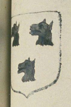 Marie RENOU, veuve de Jacques GAULTIER, écuier, conseiller au présidial d'Angers. Porte : d'argent, à trois testes de loup de sable | N° 87