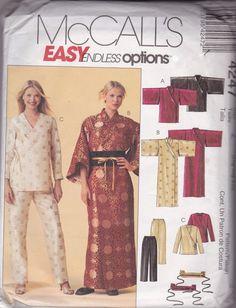 Simplicity 4247 Pattern Misses Petite Robe Two Lengths Belt Top Pants L XL XXL #Simplicity
