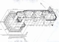 House Sketch Architecture Frank Lloyd Wright 49 New Ideas Frank Lloyd Wright, Usonian House, Walker House, Carmel California, House Sketch, Modern Architects, Best House Plans, Floor Plans, How To Plan