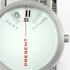 "Live in the present. This unique timepiece beautifully reminds you that ""there's no time like the present."""
