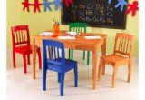 Kidkraft Kids Room Decorative Space Saving Euro Honey Table And 4 Chairs Set modern-kids-tables Kids Table Chair Set, Kids Play Table, Desk And Chair Set, Kid Table, Desk Chairs, Home Office, Office Desk, Toddler Furniture, Wooden Desk