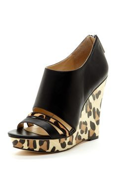 Calvin Klein Danette Leopard Wedge//