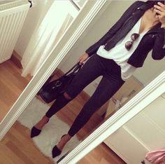 black leather jacket outfits black white outfits leather jacket fashion denim jacket outfit fall leather jacket style blouse leather leather outfit