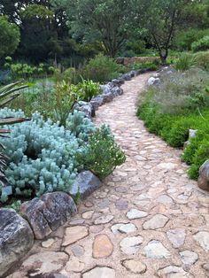 Beautiful path through a pretty garden