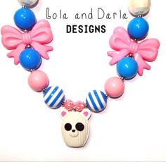 Lalaloopsy doll necklace chunky necklace by LolaandDarlaDesigns, $19.00