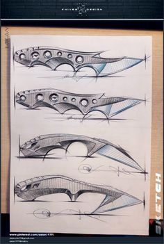 knives-kiridashi Fantasy Blade, Fantasy Dagger, Cool Knives, Knives And Swords, Knife Drawing, Knife Template, Bow Quiver, Knife Patterns, Forged Knife