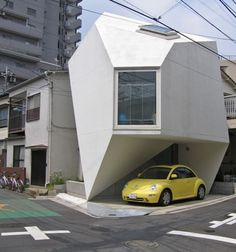 Located near the center of Tokyo, Reflection of Mineral is a modern 480 sq ft (44 sq m) house designed by Japanese architect Yasuhiro Yamashita.
