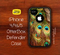 OtterBox Defender  iPhone 4 4s 5 Case  Peacock by ANWPhoto on Etsy,