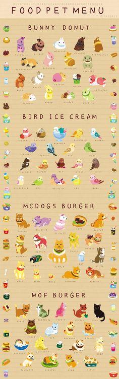 Food Pet Menu  -  http://www.pixiv.net/member_illust.php?id=71225