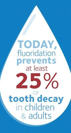 Fluoridating water for healthy teeth