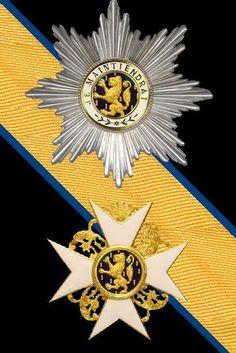 Dutch Orders and Honours: The Order of the Gold Lion of the House of Nassau Military Signs, Military Orders, Military Ranks, Ottonian, Military Decorations, War Medals, Golden Lions, Grand Cross, Arts Award
