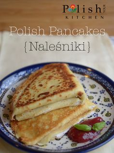 This is kids' all time favorite food in Poland. If all fails, make naleśniki. They're golden brown, thin, just slightly sweet pancakes filled with jelly or mixture of white cheese (a form of cotta… More from my site Mizeria (Polish Cucumber Salad) Eastern European Recipes, European Cuisine, Polish Desserts, Polish Recipes, Ukrainian Recipes, Russian Recipes, Ukrainian Food, Slovak Recipes, Czech Recipes