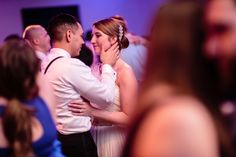 Saratoga National Wedding- the bride and groom share a romantic moment on the dance floor at their wedding reception.