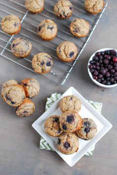 These Wild Blueberry Mini Muffins make a healthy and flavorful bite-size snack. Perfect for moms to enjoy with the kids after an afternoon nap!