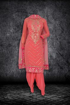 Pretty gajari suit in gota work