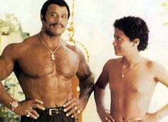 dwayne-johnson.. Early years with dad!