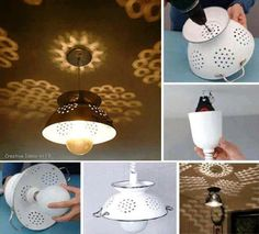 How to make beautiful colander lighting fixtures step by step DIY tutorial instructions, How to, how to do, diy instructions, crafts, do it yourself, diy website, art project ideas