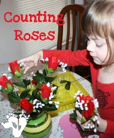 Counting Roses - Hands On Learning - 3Dinosaurs.com