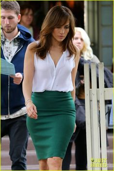 596d5bf6ef Jennifer Lopez: Sexy Outfit Switch for 'Boy Next Door'. Rita Phil · Pencil  skirts