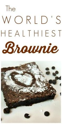 This isn't just a healthy brownie. This is the WORLD'S healthiest brownie! It's gluten-free, vegan, oil/butter-free, and fabulous!! You're going to feel so saintly when you make this healthy brownie recipe. by Naghma