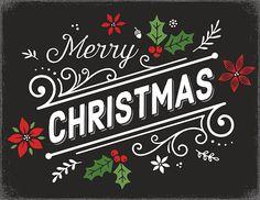 Mão desenhada cartão de Natal retrô - ilustração de arte em vetor