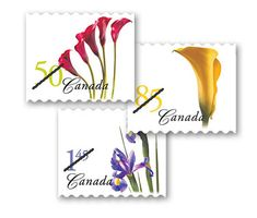 Flowers - Red Calla Lily, Purple Iris and Yellow Cally Lily issued 2004