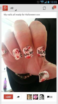 Walking Dead nails.