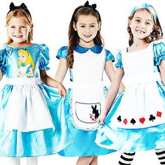 Alice in wonderland girls fancy #dress #storybook fairytale kids #childrens costu,  View more on the LINK: 	http://www.zeppy.io/product/gb/2/400873958088/