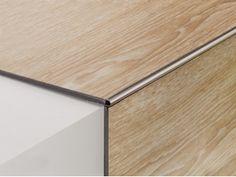 PROTRIM RA/ - RI/ Laminate Stairs, Tile Stairs, Wooden Stairs, Laminate Flooring, Floor Design, Tile Design, House Design, Tile To Wood Transition, Tile Edge
