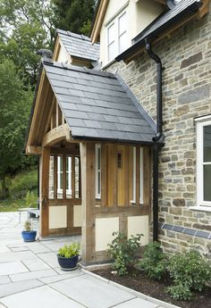 Pearmain - Border Oak - oak framed houses, oak framed garages and structures. Cottage Porch, Home Porch, House With Porch, House Front, Cottage Style, Front Door Porch, Porch Doors, Front Porch Design, Front Doors