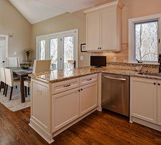 peninsula kitchen remodel | Peninsula Kitchen Designskitchen Gorgeous White Wooden Kitchen ...