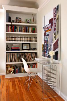 small apartment = no office = this charming little desk nook will be utilized. perfect.