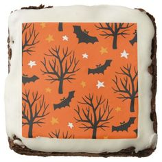 #Spooky Halloween Tree with Bats and Stars Chocolate Brownie - #halloween #brownies #sweets #goodies