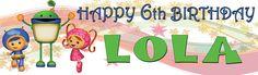 Team UmiZoomi Personalized Custom Birthday Banner