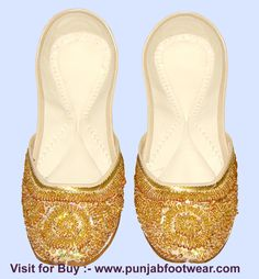 These are Indian Beaded Khussa designer shoes for the Women's. We make these shoes  in sizes 6 to 11 USA,3 to 9 UK & 36 to 44 EUR  all sizes. According to buyer demand and  ship  through DHL courier  service.The Cost of the display shoe is 24$ each pair. If you buy only 1 pair then shipping cost is 13$ only worldwide. Kindly visit our  website to see more design at www.punjabfootwear.com  .