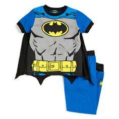 Warner Bros. Boy's Batman Short Sleeve Polo Pyjama with Cape
