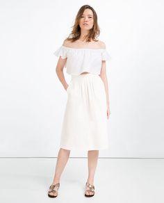 Image 1 of MID-LENGTH SKIRT from Zara