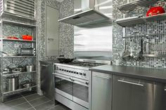brushed metal kitchen cabinets