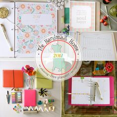 """I loved using this planner last year! For 2017, I am using The Happy Planner in combination with all of the great pages created by The Handmade Home. Just use the full size pages and print at 84%. Then trim to 7"""" x 9.25"""" and add them to The Happy Planner! free planner 2017 - great options for the new year!"""