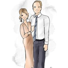 Apparently it's Valentine's Day tomorrow? I swear the last week has been an absolute blur! I have drawn 20+ presents for the sweetest couples and I can't wait to start sharing them with you! For now, here is another adorable twosome Ashley and Greg! ( that dress though! 🔥 )⠀ •⠀ •⠀ •⠀ •⠀ •⠀ #sketch #ink #illustration #art #watercolor #ootdstyle #lifestyleblogger #wiwt #lookoftheday #inspo #fashion #instasketch #risingtidesociety #instalove #girlboss #drawing #instadraw #bloggerstyle…