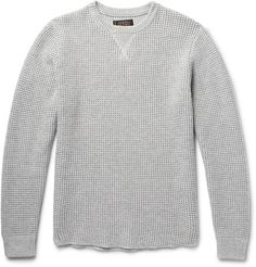 Waffle-Knit Cotton-Blend Sweater | MR PORTER