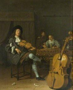 A Music Party (Circle of Pieter Cornelisz. van Slingeland) 1675