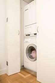 How to Build a Closet Around a Washing Machine & Dryer Custom Bifold Closet Doors, Folding Closet Doors, Dryer Machine, Washing Machine And Dryer, Washing Machines, Closet Built Ins, Closet Shelves, Book Shelves, Porta Diy