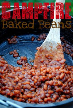 Old fashioned baked beans- bake them in your oven or over a campfire!!