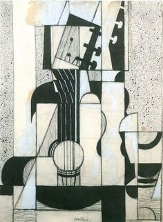 Stillleben mit Gitarre / Still Life with Guitar // by Juan Gris