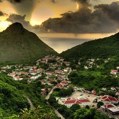 Saba, Dutch West Indies...the people there are so NICE..you just wouldn't believe it! A must for your Bucket List!!!