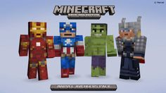 Image result for avengers minecraft