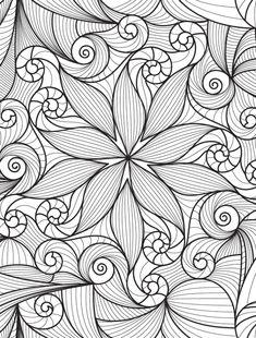 Adult Coloring Pages Printable coloring page Doodle Adult Coloring Book Pages, Flower Coloring Pages, Coloring Pages To Print, Mandala Coloring, Colouring Pages, Printable Coloring Pages, Coloring Books, Mandalas Painting, Mandalas Drawing