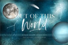 Out of This World Space Kit by Kirsten Louise on @creativemarket