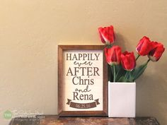 Happily Ever After Your  Personalized Sign  by thestickerhut